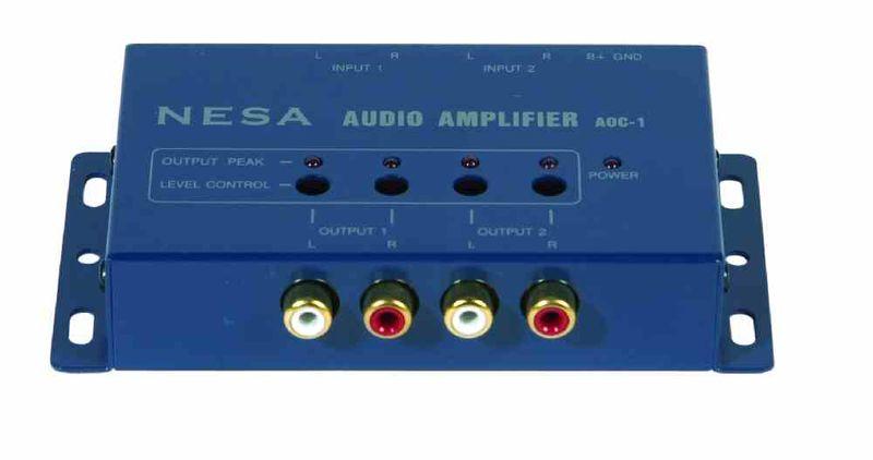 Audio-Signalverstärker Nesa AOC-1, 4-Kanal regelbar