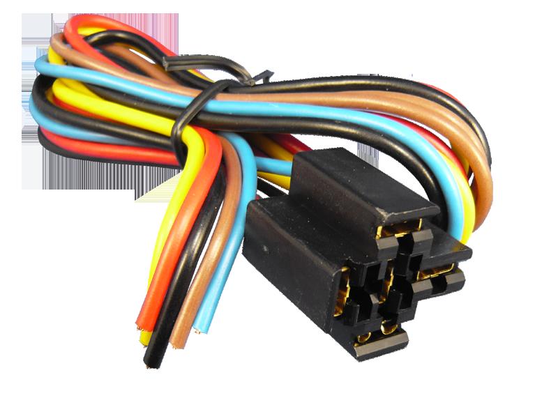 Relais-Stecksockel 5-Pin, 20cm Kabel
