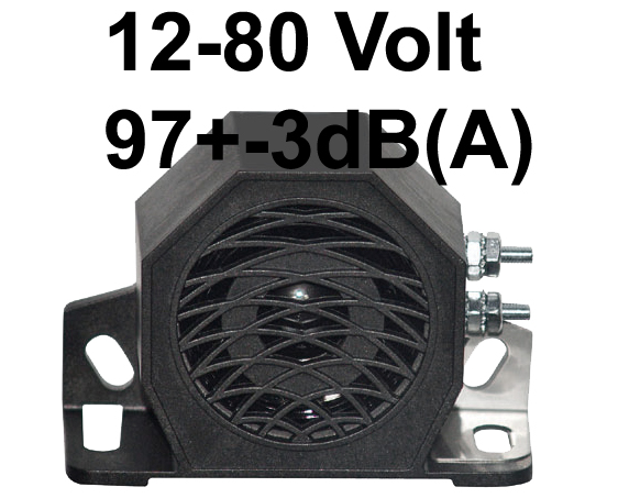 Rückfahrmelder mit vertikaler Befestigung 12-48V DC