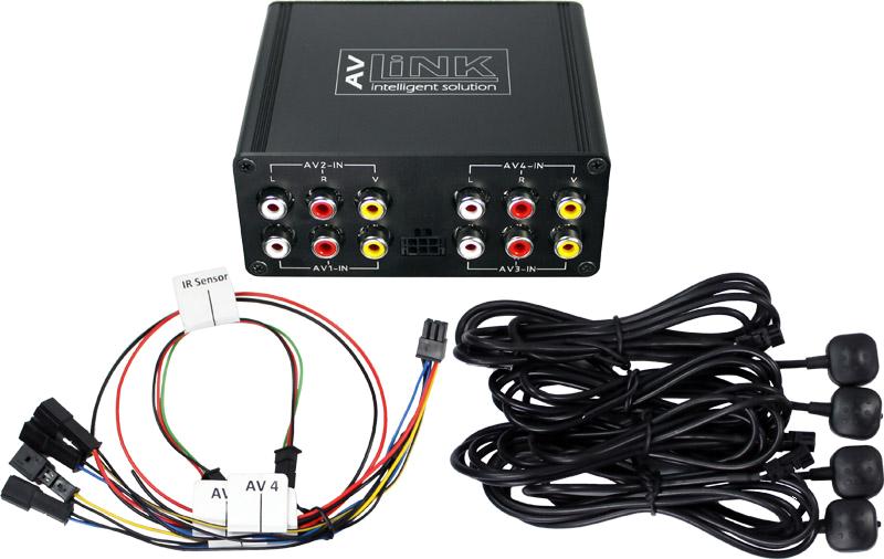 Audio Video Switch 4 Eingänge 4 Ausgänge