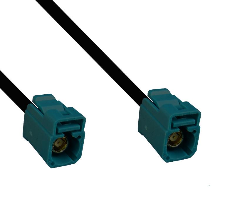 Kabel Fakra wasserblau, Buchse auf Buchse, 200cm