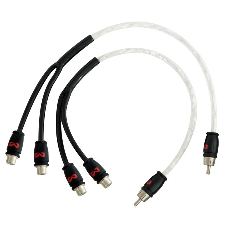 Audio Y-Kabel 30cm, 2 Buchsen - 1 Stecker