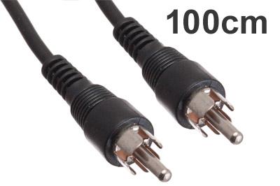 Cinch Video-Kabel Stecker-Stecker 1m