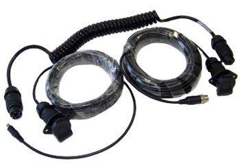 Spiralkabel-Set für Anhänger, LKW-Version 4-Pin, 10+20m
