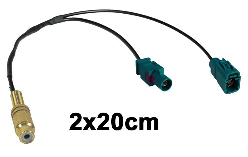 Adapter Cinch-Buchse auf Fakra-Kupplung und Fakra-Stecker