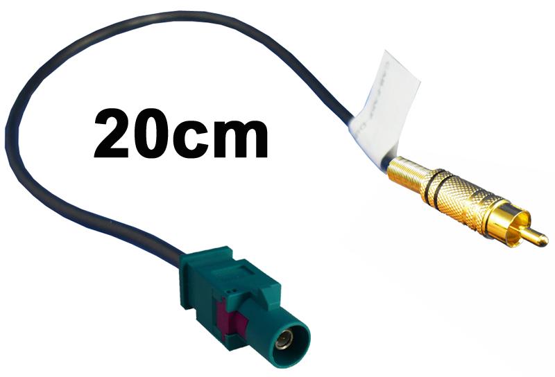 Adapter Fakra-Stecker auf Cinch-Stecker