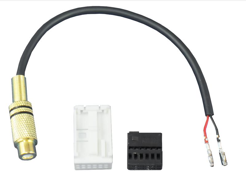 Adapter weißer 12-Pin Quadlockeinsatz mit Video Cinch-Buchse
