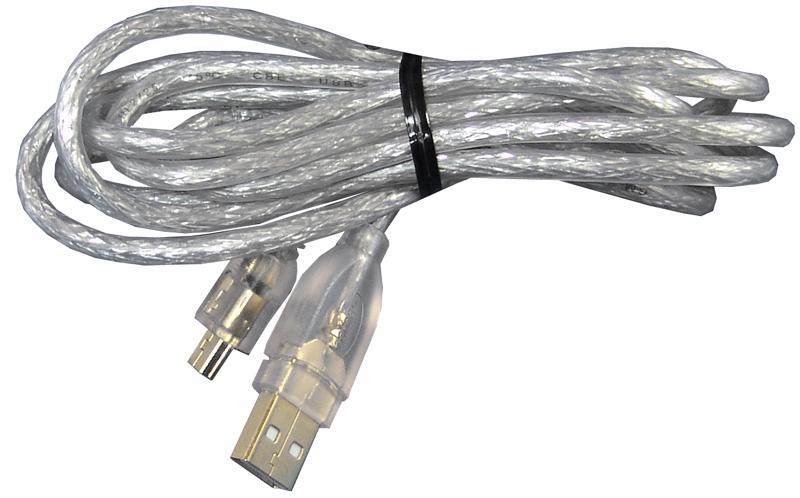 USB Stecker auf Mini USB Datenkabel 180cm geschirmt