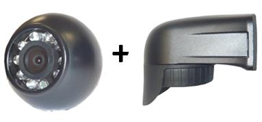 RFK NTSC 1/4 Zoll CCD, 120°,Aufbau-Kugel + Lieferwagenhalter