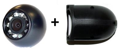 RFK NTSC 1/4 Zoll CCD, 120°, Aufbau-Kugel-Seitenkamera, IR