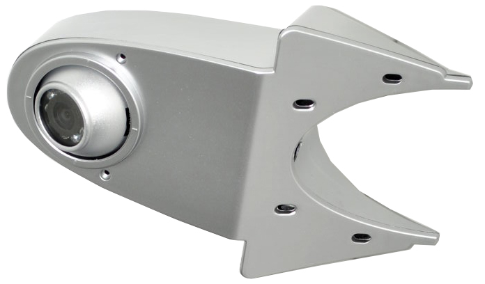 RFK NTSC 1/4 Zoll CCD,120°, Kugel-Kamera+Lieferwagenh. silb.