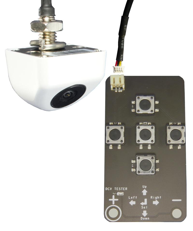 RFK NTSC 1/4 Zoll CCD SONY,165°,Mini-Unte,Linien,weiss