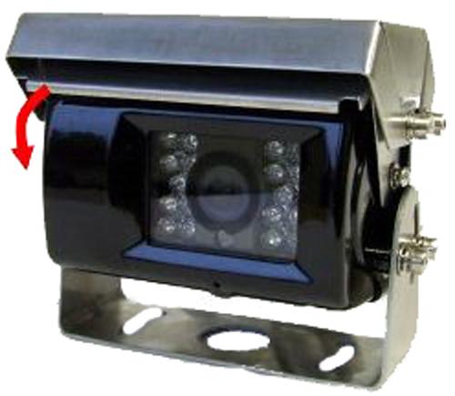 RFK PAL 1/4 Zoll CCD,120°, Aufbau-Shutter, Mikro, IR,Heizung