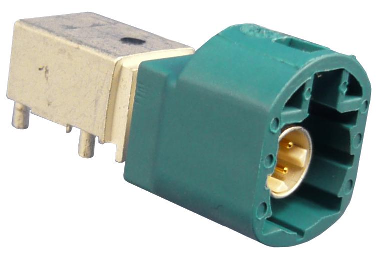 Winkelstecker PCB HSD wasserblau - D4S20L-40MA5-Z