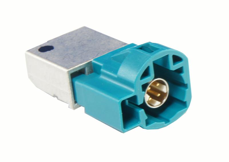 Winkelstecker PCB HSD+2 wasserblau - 99S20D-40MA5-Z