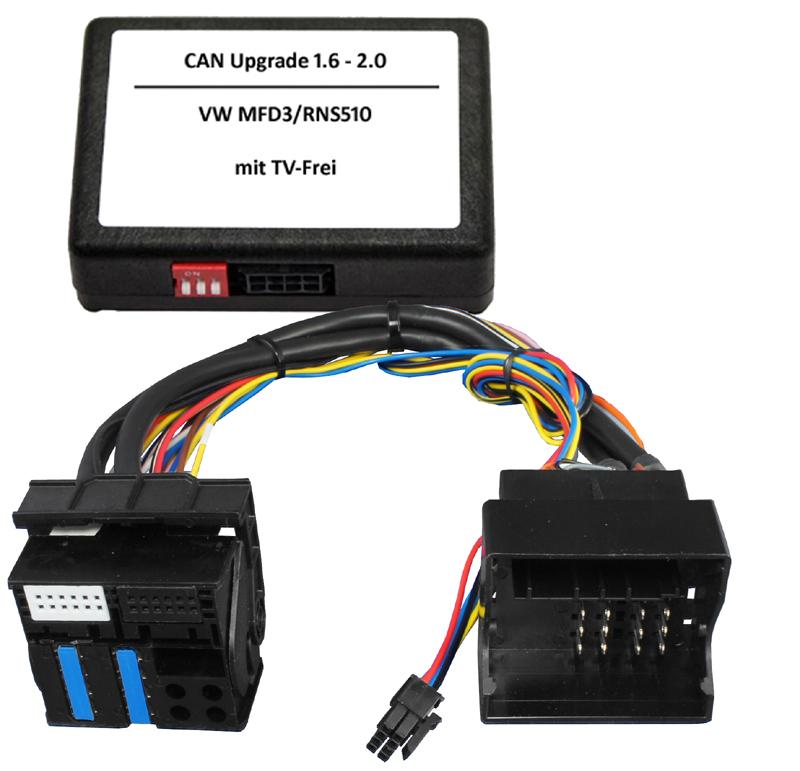 CAN Upgrade 1.6 auf 2.0+TV-Frei passend RNSx10/RNS315/RCDx10