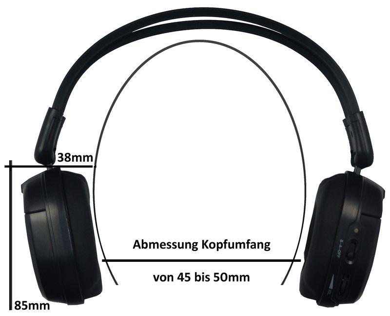 ** IR-Kopfhörer 1-Kanal, Auto-Shut-Off