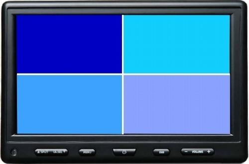 Monitor 7 Zoll für Kamera, quad Bild, 12-24V