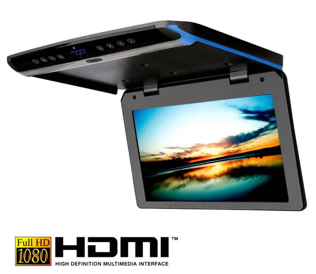 Deckenmonitor 15.6 Zoll, dunkelgrau, Full HD, USB, HDMI