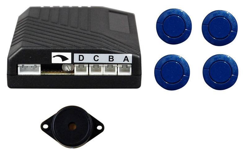 Parkabstandssensoren 4 Stck 20mm, akust. Anzeige, blau