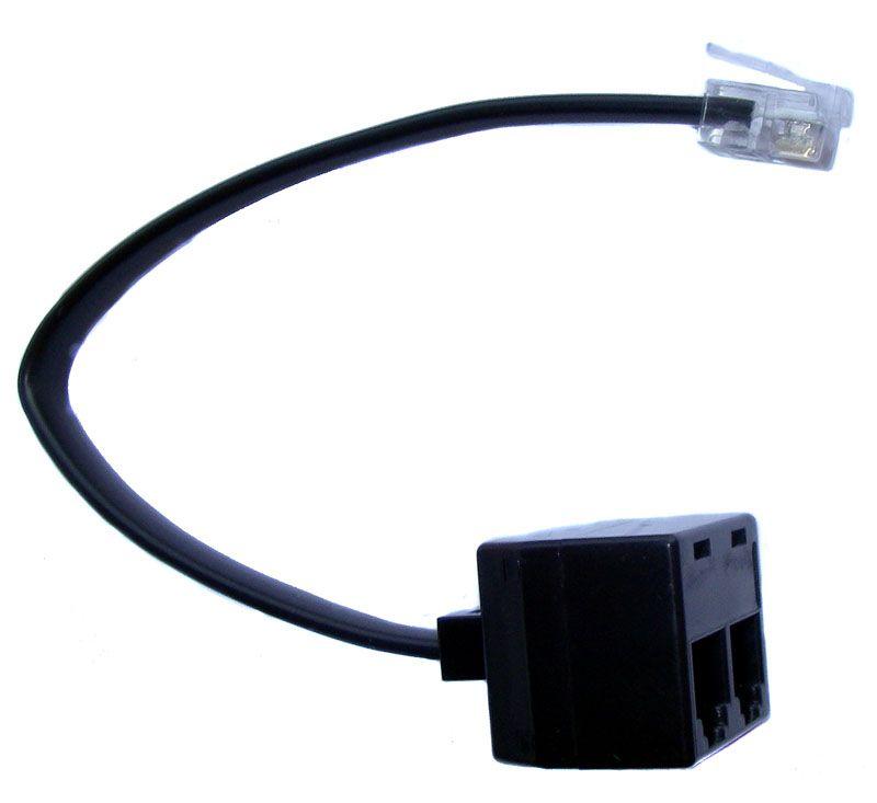 x.LOGiC IR-Steuerkabel Y-Adapter RJ12 Stecker auf 2 x Buchse