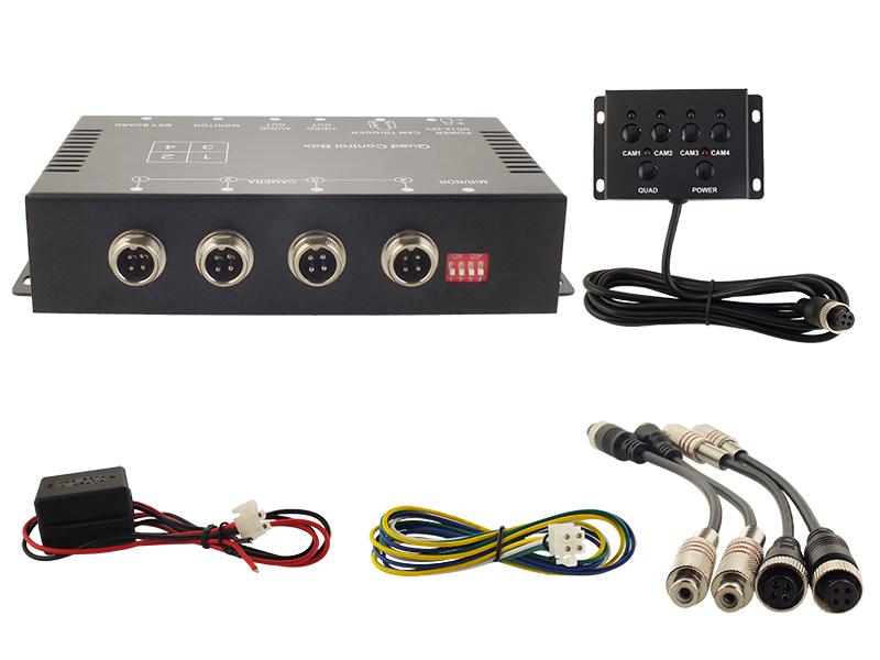 Kamera Switch-Box 4 Eingänge, 1 Ausgang, PAL/NTSC