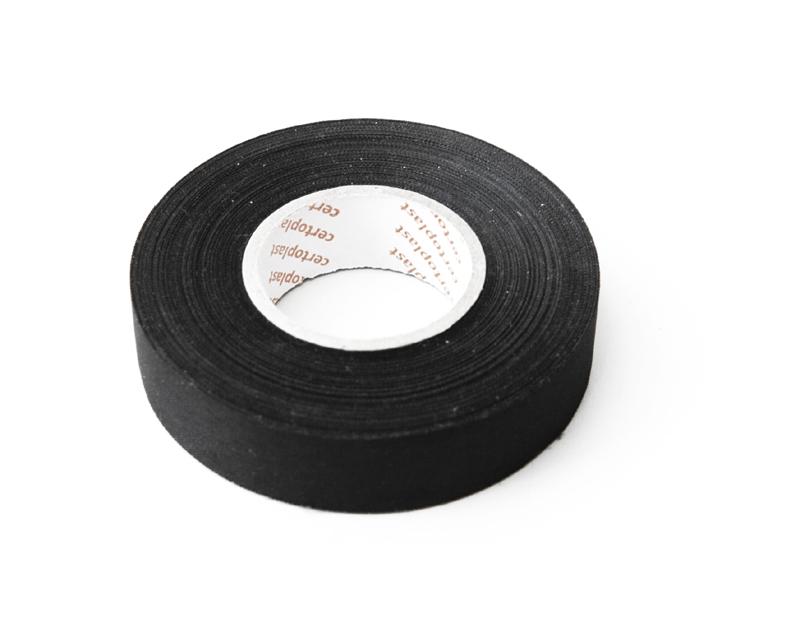 Gewebeklebeband schwarz, 10 Rollen, 9mm Breite, 25m Länge