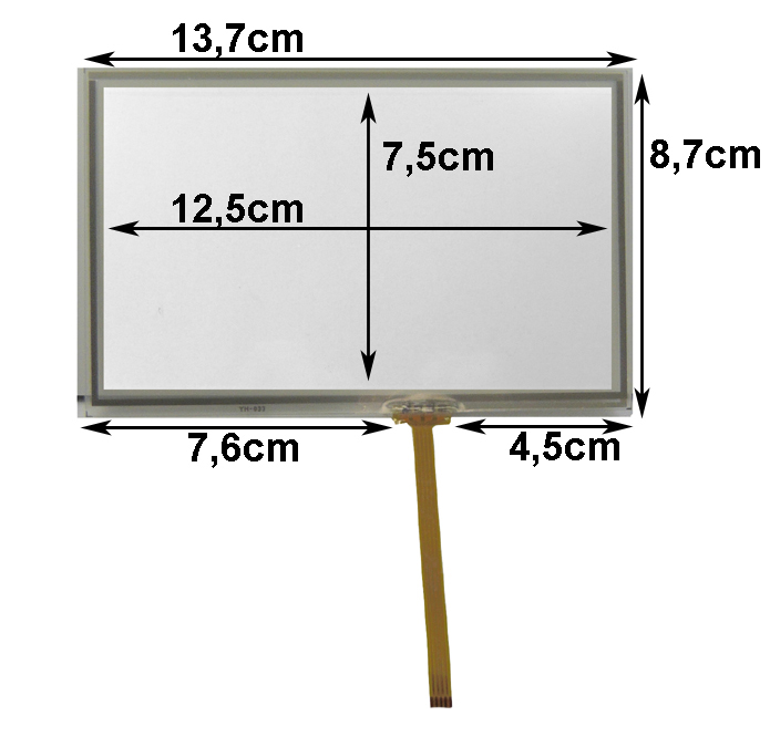 ** Touch-Screen Panel 5.6 Zoll, 19:10, Film, 87x137mm