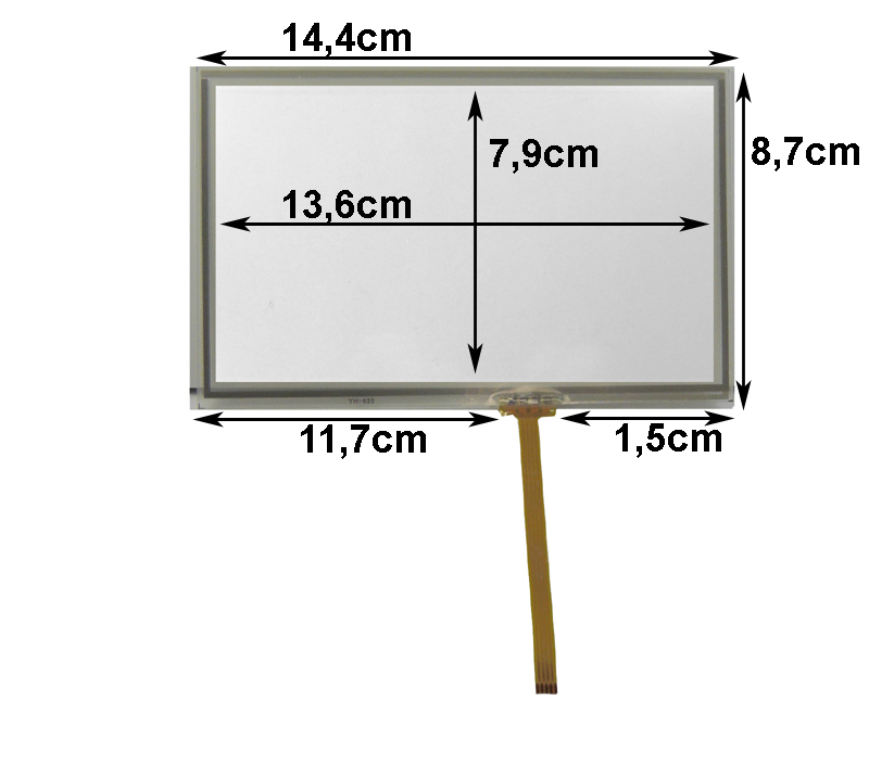 Touch-Screen Panel 5.8 Zoll, 16:9, Film, 87x144mm